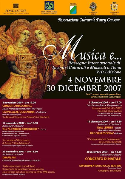 """""""Musica e..."""" Rassegna Internazionale di Incontri Culturali e Musicali a Tema X Edizione"""