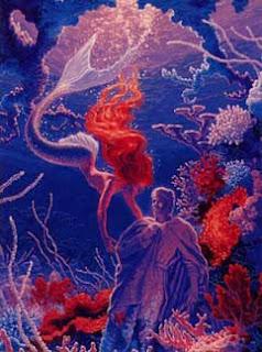 Sirena y estatua