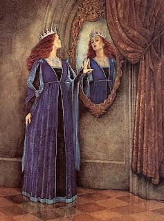 Madrastra y espejo mágico