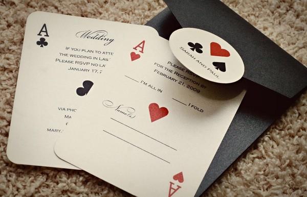 Vegas Themed Wedding Invitations