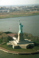 NYC New York Liberty Statue from Helicopter b 2007   the year in review..