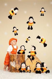 beebi ja palju mesilasi