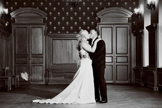 pulmafoto- pruutpaar lossis