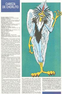 Cabeza de Chorlito (ficha marvel comics)