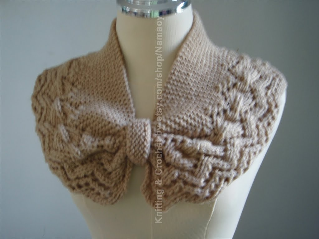 Knit Pattern Cowl Neck Warmer : Myknittingdaily: Knitting Neck warmer,cowl,cozy Light Brown