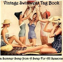 Vintage Swimwear Tag Book Swap
