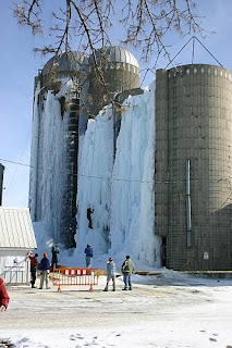 Climbers brave the icy peaks of Silo Summit