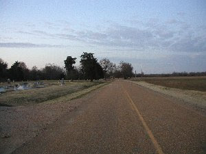 Road leading north of Shady Grove Cemetary, Clarendon AR