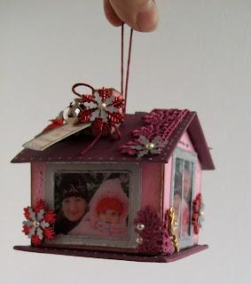 Ёлочные игрушки домик своими руками