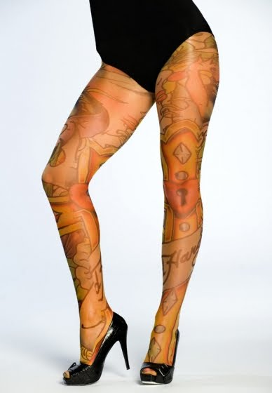 long sleeved tattoo tops (as pictured), tattoo tights, and some of our