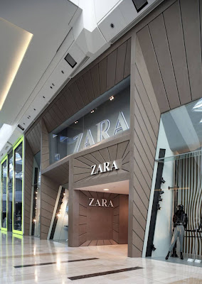 Interior design zara store facade at westfield london Interior design stores london