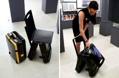 Unique Suitcase Chair Concept Traveller
