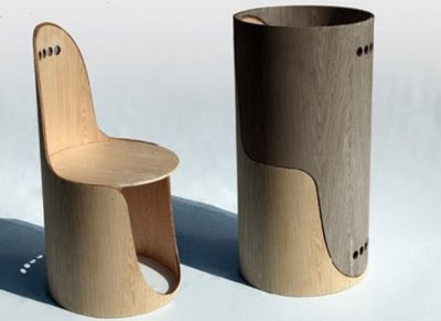 Twin Chairs Tree Trunk Inspired by Euga Design