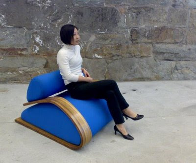 aerodynamic seating design by Phillip Grass