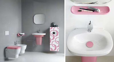Best Interiors: Modern Pink Bathrooms Ideas from Laufen