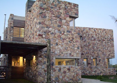 Amazing stone house design