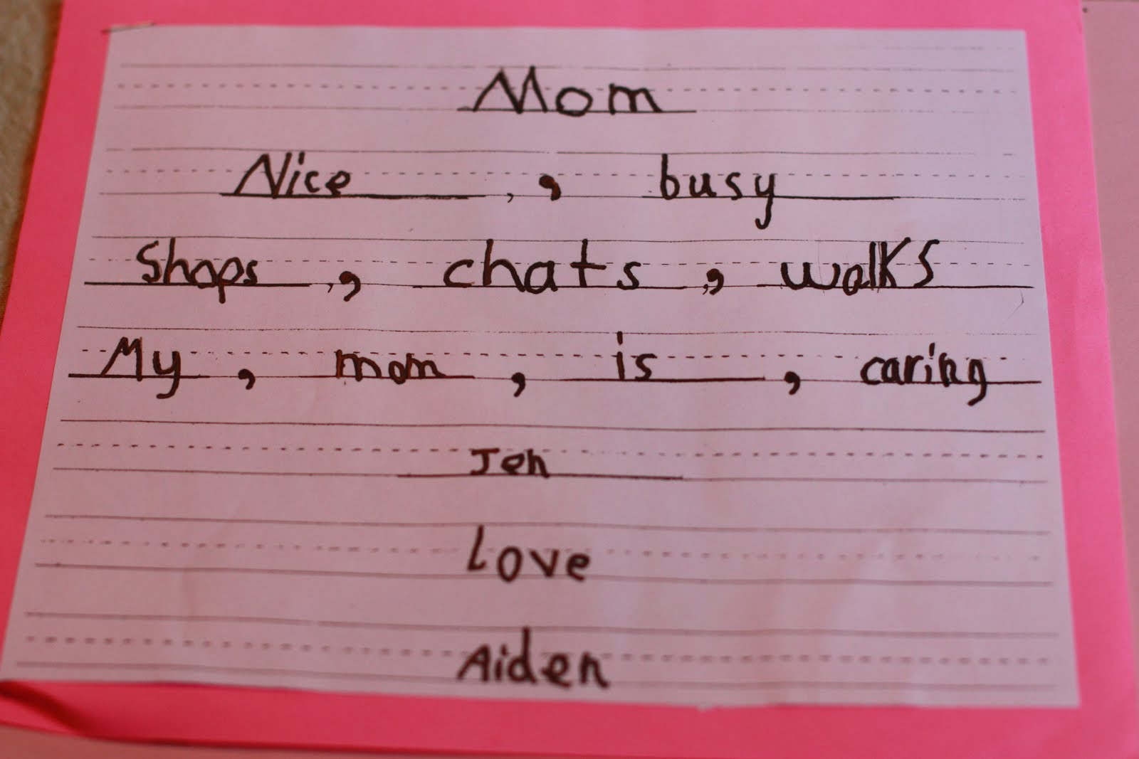 mothers day poems from kids car interior design