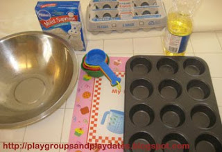 Playgroups playdates little chefs rainbow cupcakes cooking with kids