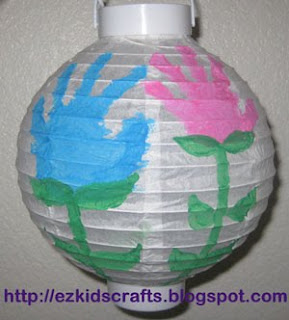 Hand Print Lantern Keepsake Fun Mommy and Me Craft