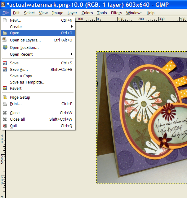 how to create watermark photoshop with png file