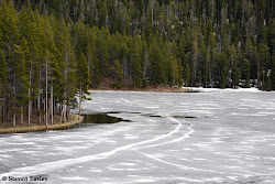 Frozen over lake, Bighorn Mountains
