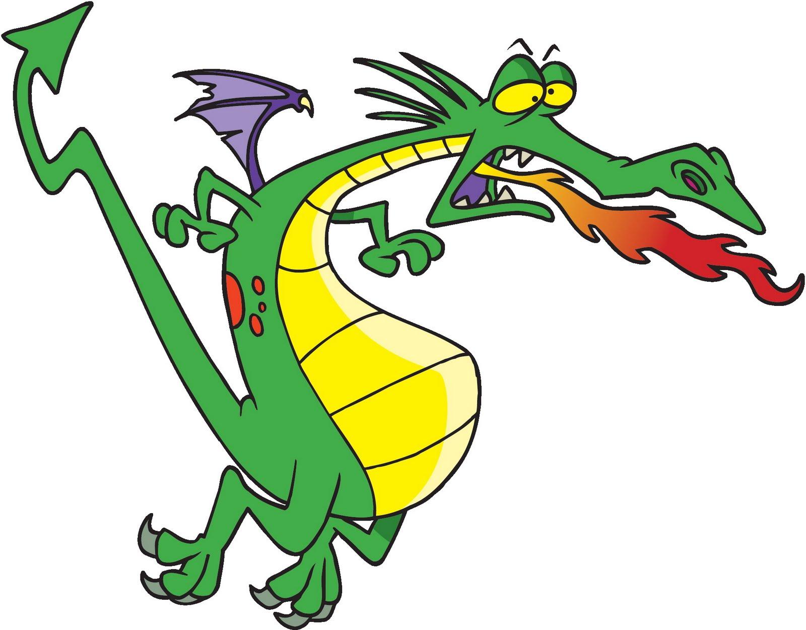 Fire Breathing Dragon Tattoo Designs Cartoon Dragon Breathing Fire