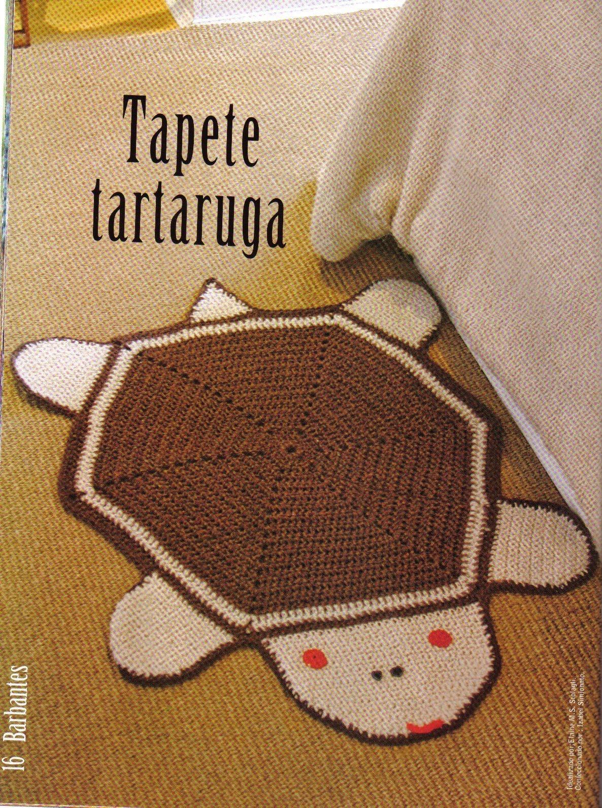 Tapete De Croche Barbante Tartaruga E Gr  Fico