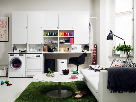 decoration  examples of laundry room decor