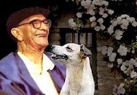Chico Xavier e sua cadela Boneca