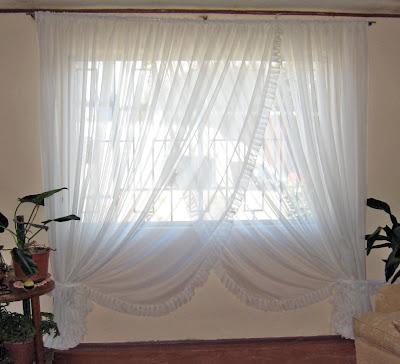 S banas y cortinaje cortina rom ntica for Cortinas romanticas