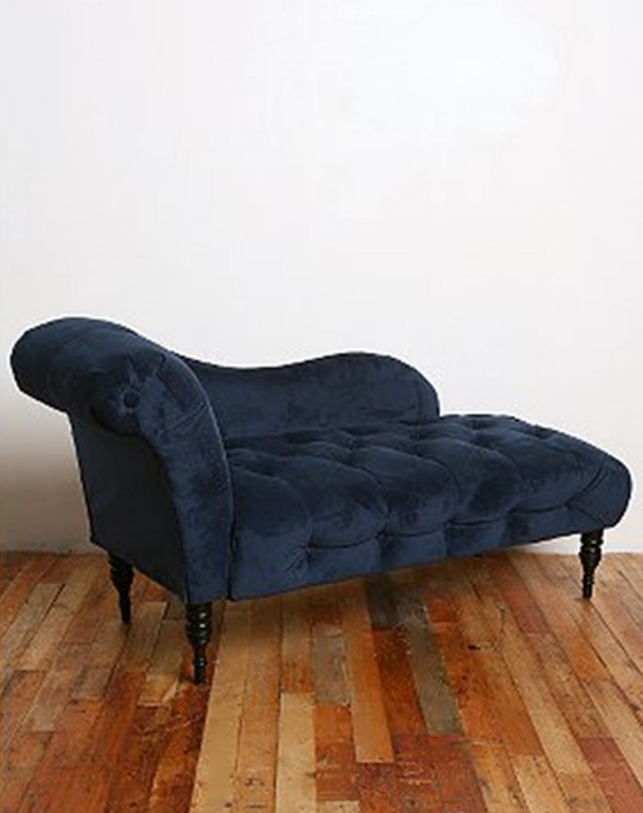 Rg the shop library edie velvet chaise ink blue for Blue velvet chaise