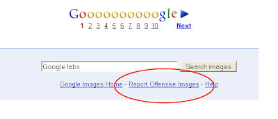 Report Offensive images_google