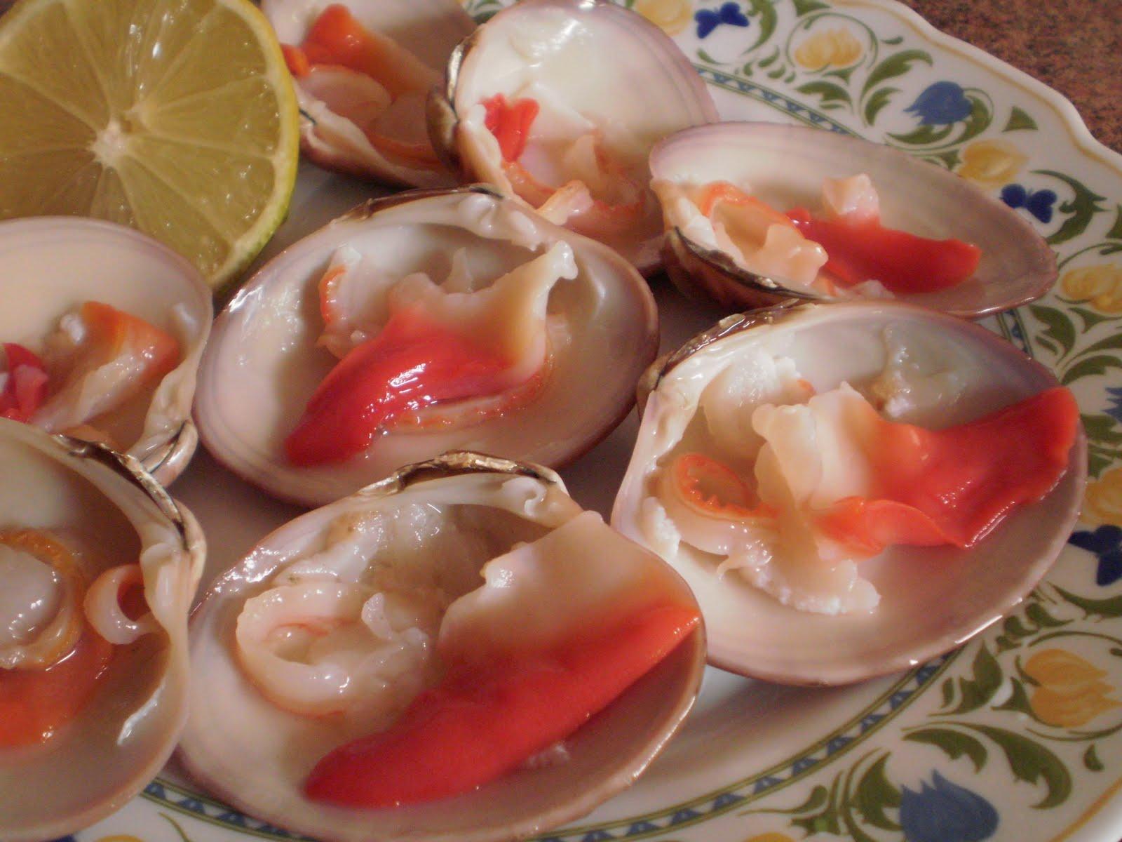 Conchas finas crudas mi cocina for Como cocinar conchas finas