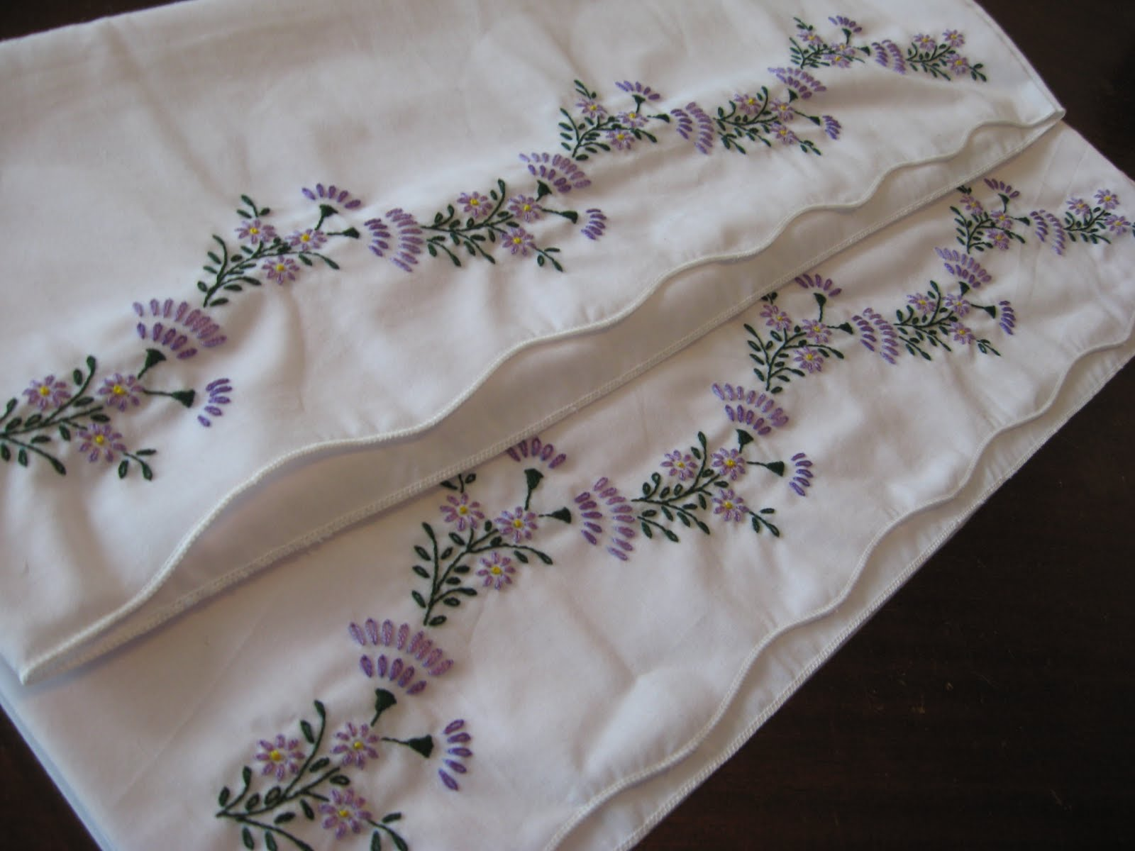 Violets Embroidered Pillowcases & Oliver\u0027s Bungalow: Violets Embroidered Pillowcases pillowsntoast.com
