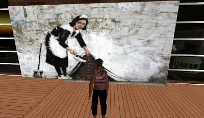 Banksy's Ghetto in Second Life - Maid in Camden