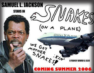 Snakes on a Plane fan poster