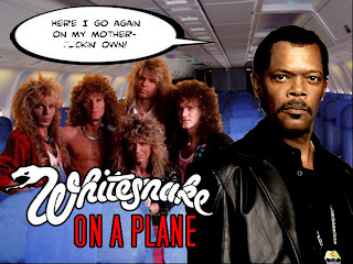 Whitesnake on a plane