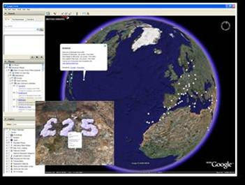 British Airways Google Earth KML layer