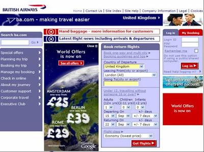 British Airways Google Earth BA website