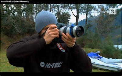 Liquid Mountaineering Hi Tec photographer Walk On Water