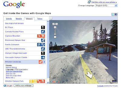 Google Vancouver 2010 Winter Olympics Street View