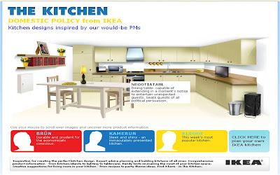 Nick Clegg IKEA kitchen