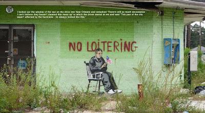 Banksy New Orleans no loitering