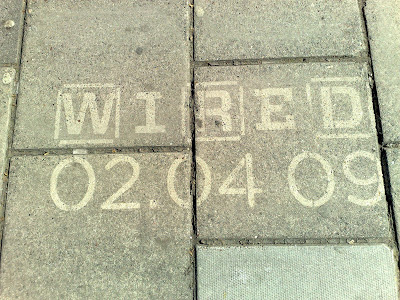 Wired UK launch pavement logos