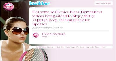 Evian Wimbledon Twitter