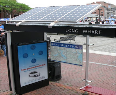 Prius Solar Power Bus Shelter Boston