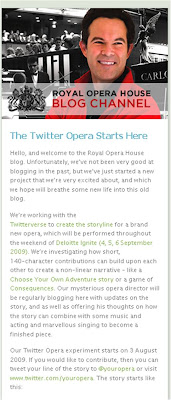 Twitter Opera youropera Royal Opera House blog