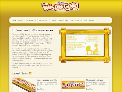 Wispa Gold Messages