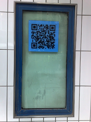 Oxford Circus Grum QR code close up
