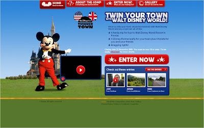 Walt Disney World UK twin town competition